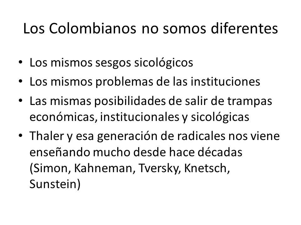 Los Colombianos no somos diferentes