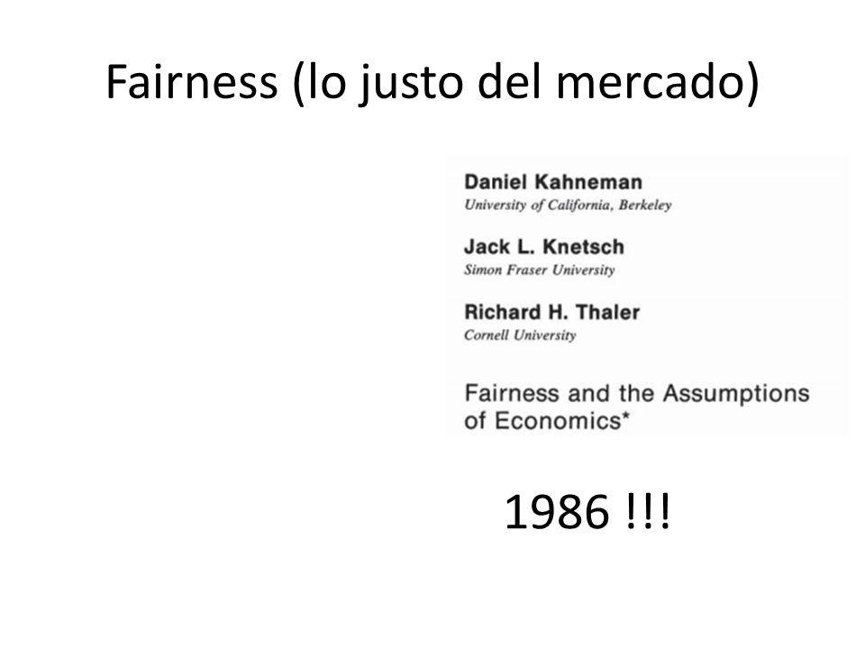 Fairness (lo justo del mercado)