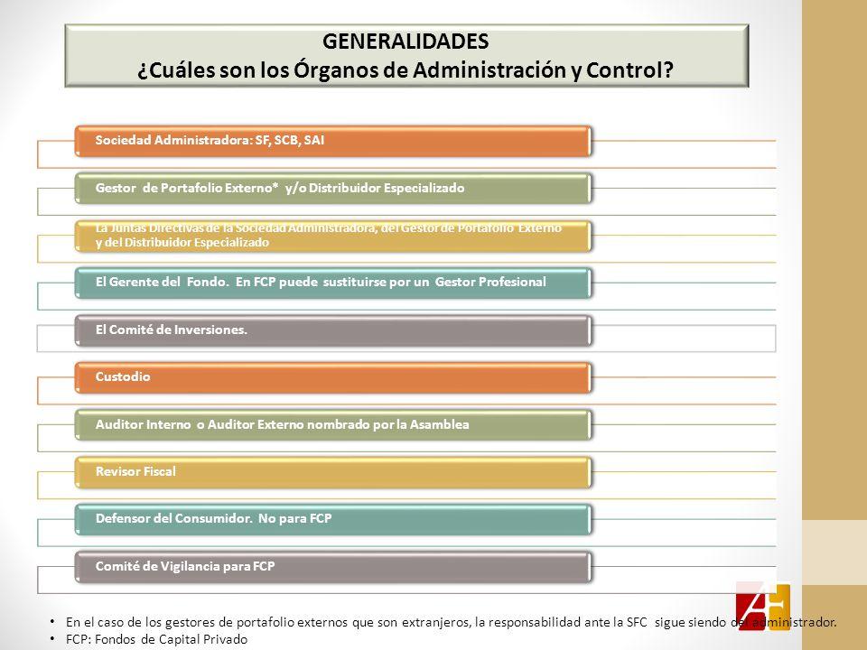 GENERALIDADES ¿Cuáles son los Órganos de Administración y Control