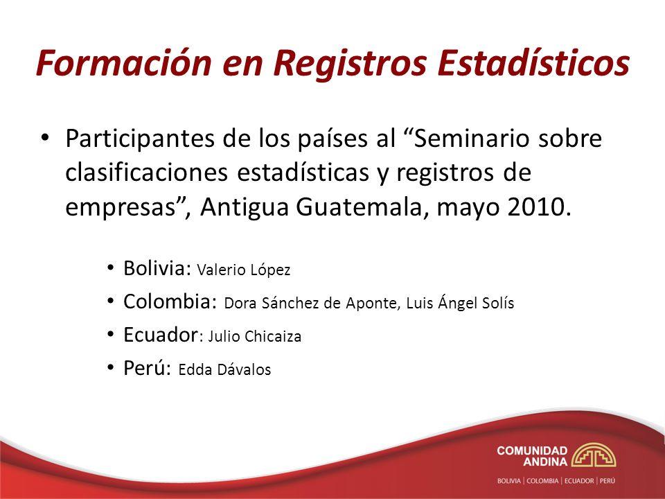 Formación en Registros Estadísticos