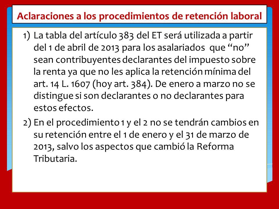 Aclaraciones a los procedimientos de retención laboral