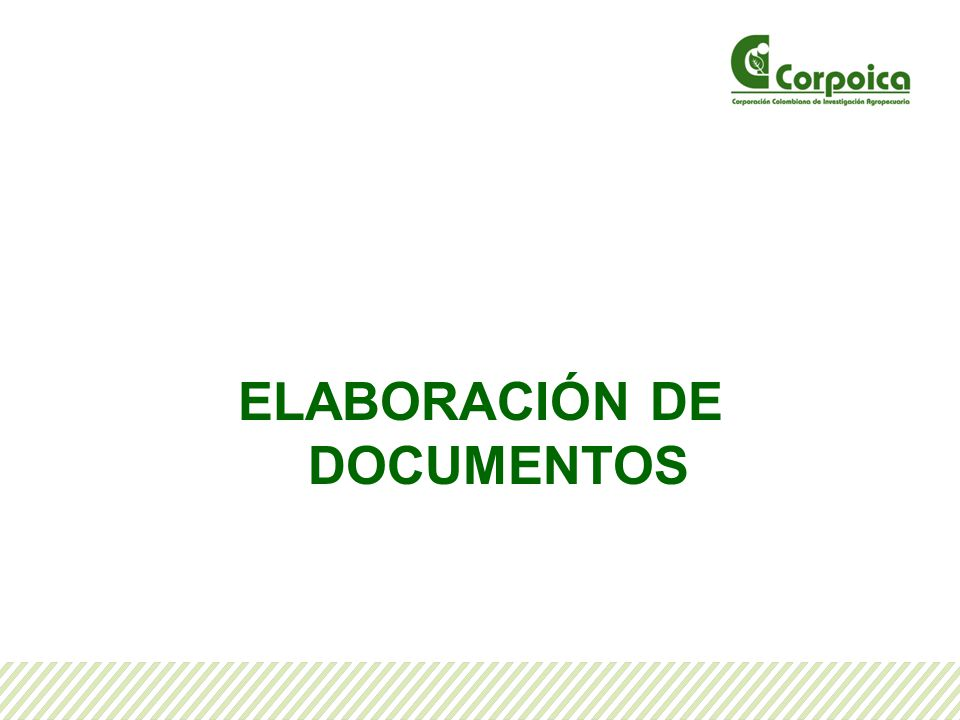ELABORACIÓN DE DOCUMENTOS