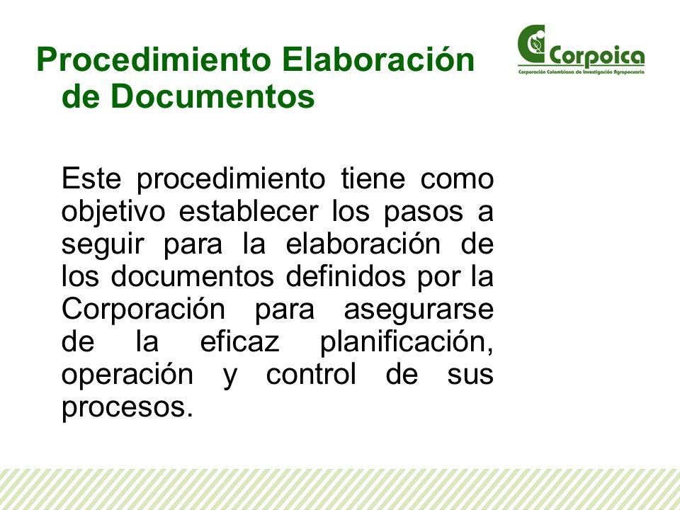 Procedimiento Elaboración de Documentos