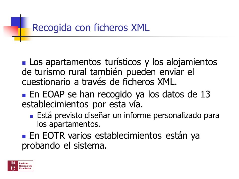 Recogida con ficheros XML