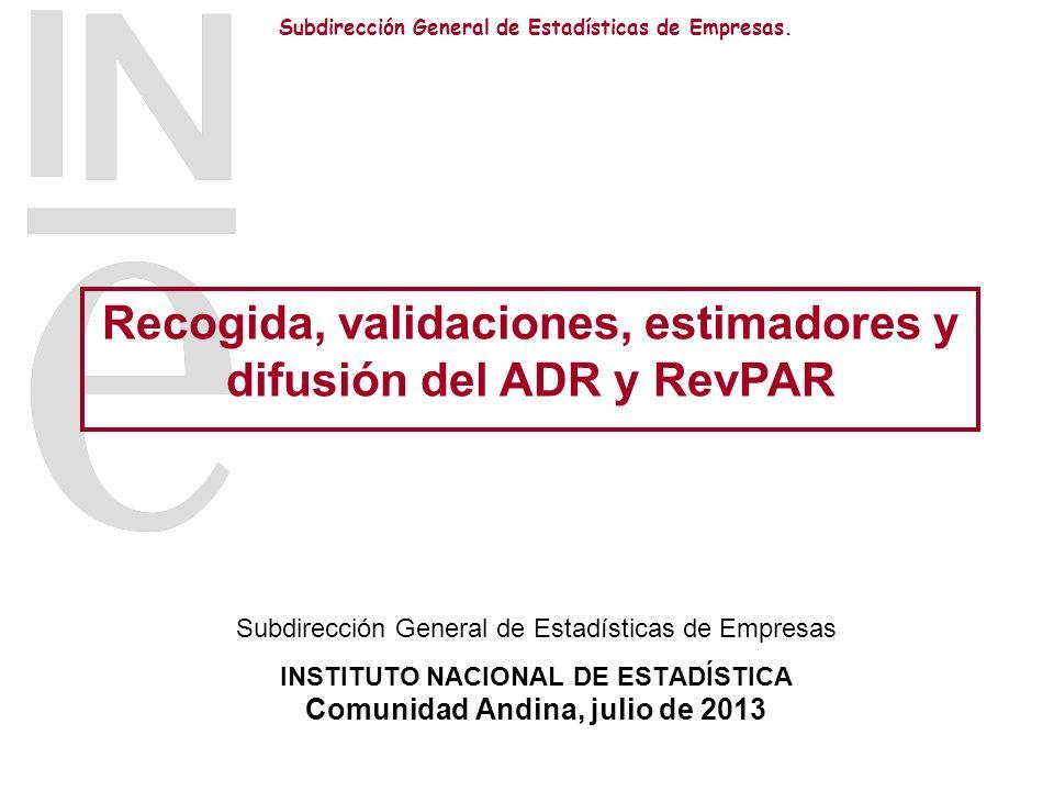 Recogida, validaciones, estimadores y difusión del ADR y RevPAR