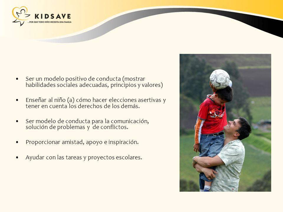 Ser un modelo positivo de conducta (mostrar habilidades sociales adecuadas, principios y valores)