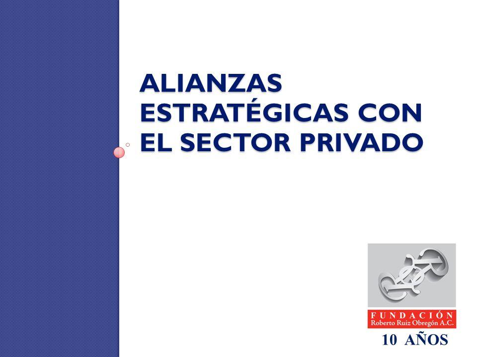 ALIANZAS ESTRATÉGICAS CON EL SECTOR PRIVADO