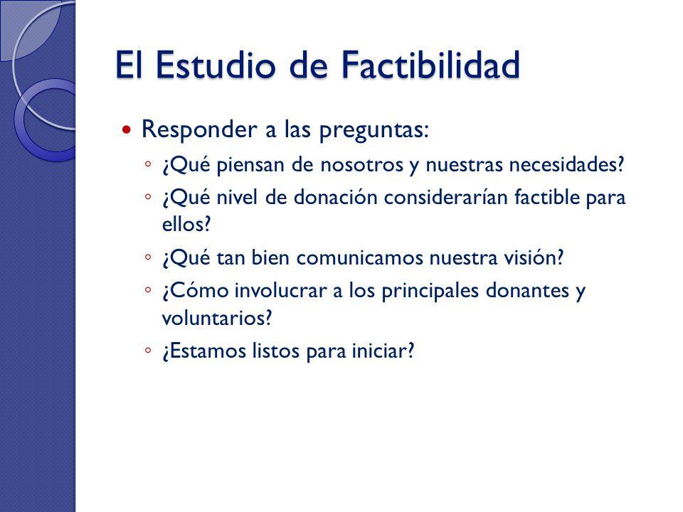El Estudio de Factibilidad