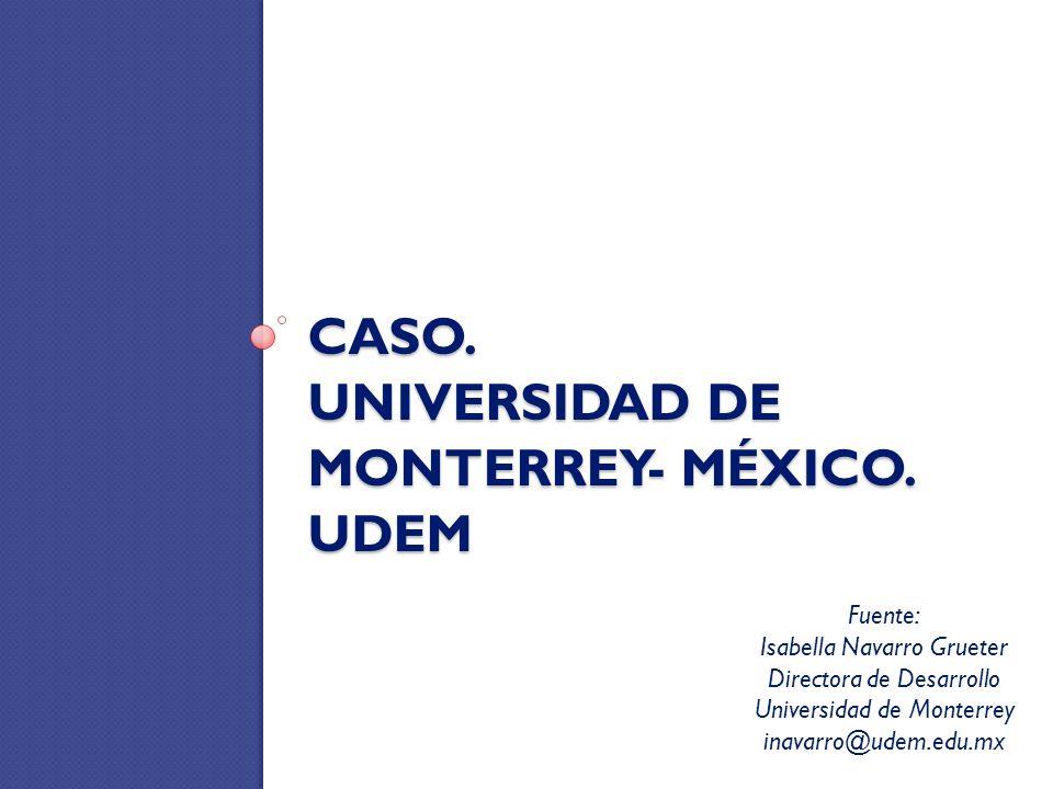 CASO. UNIVERSIDAD DE MONTERREY- MÉXICO. UDEM