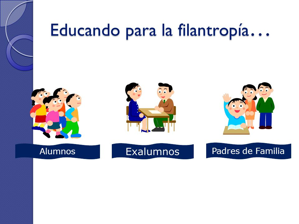 Educando para la filantropía…