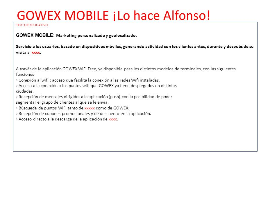 GOWEX MOBILE ¡Lo hace Alfonso!