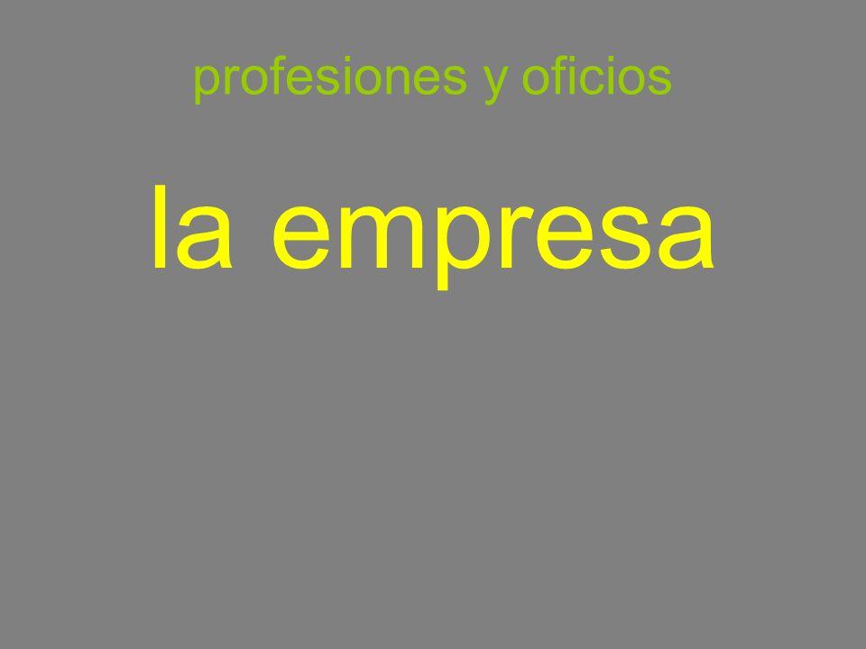 profesiones y oficios la empresa