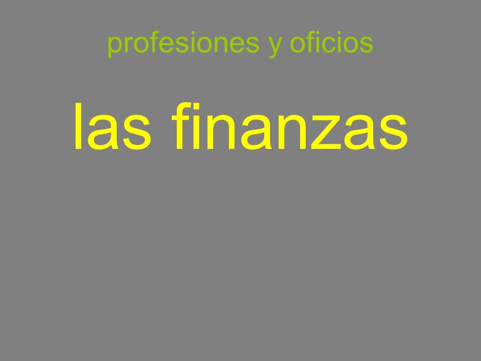 profesiones y oficios las finanzas