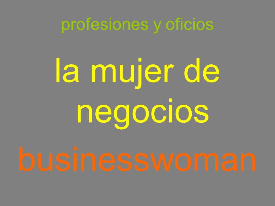 profesiones y oficios la mujer de negocios businesswoman