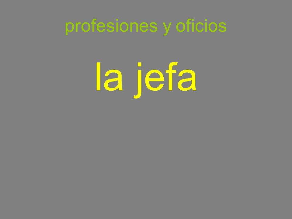 profesiones y oficios la jefa