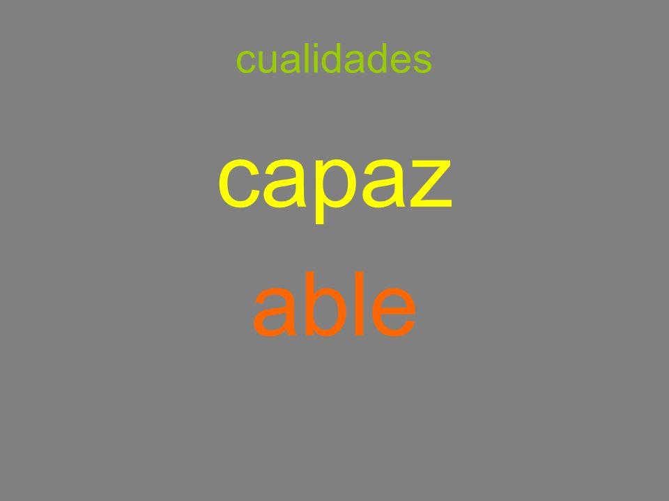 cualidades capaz able
