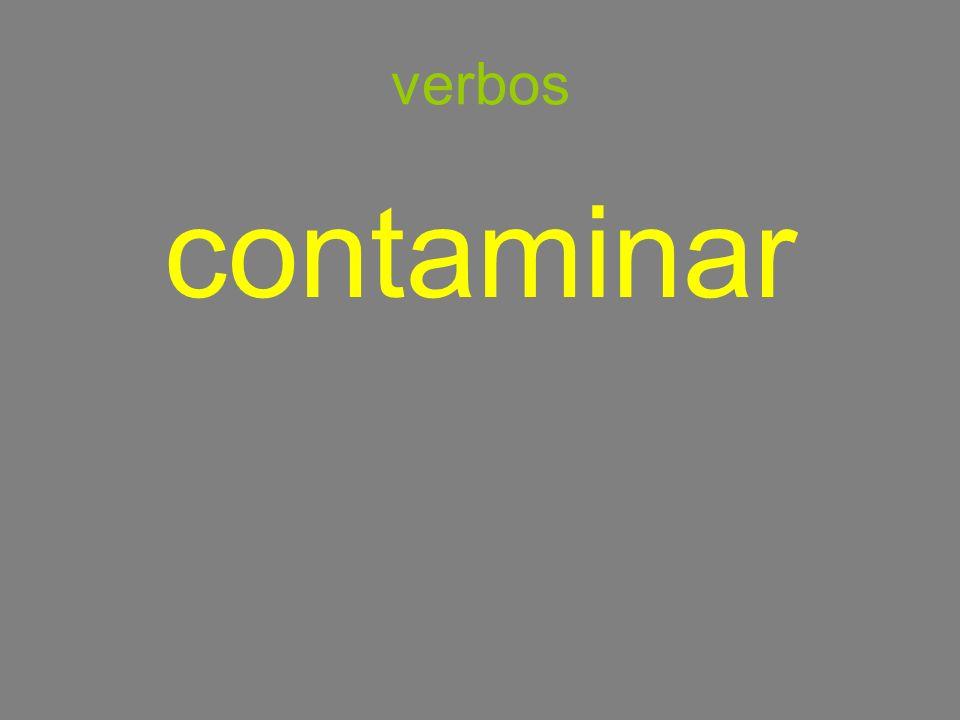 verbos contaminar