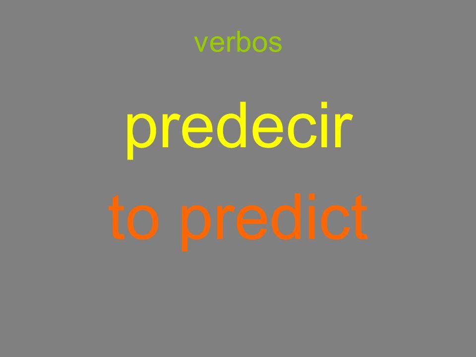 verbos predecir to predict