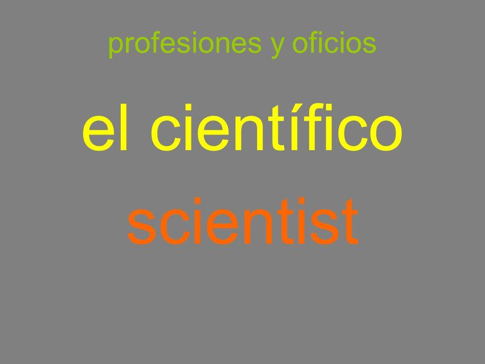 profesiones y oficios el científico scientist