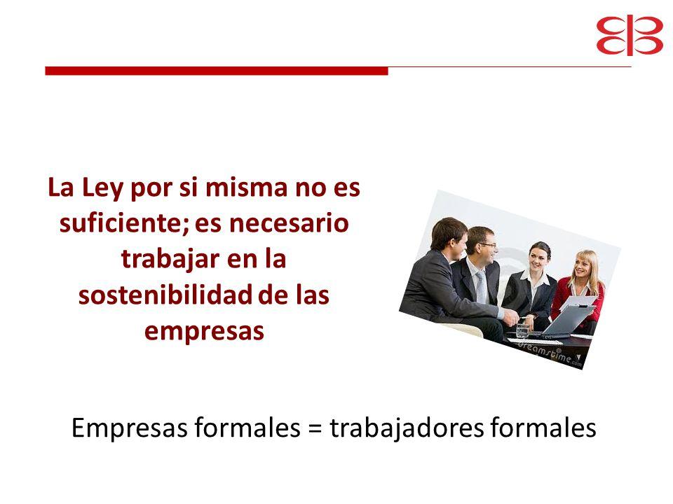Empresas formales = trabajadores formales