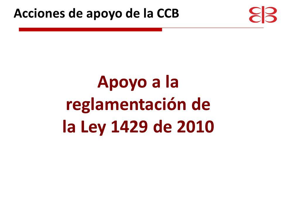 Apoyo a la reglamentación de la Ley 1429 de 2010