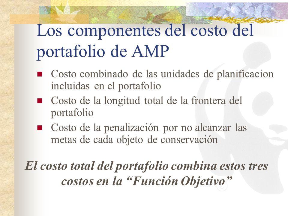 Los componentes del costo del portafolio de AMP