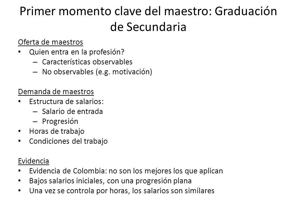 Primer momento clave del maestro: Graduación de Secundaria