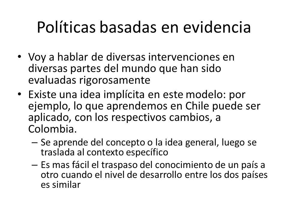 Políticas basadas en evidencia