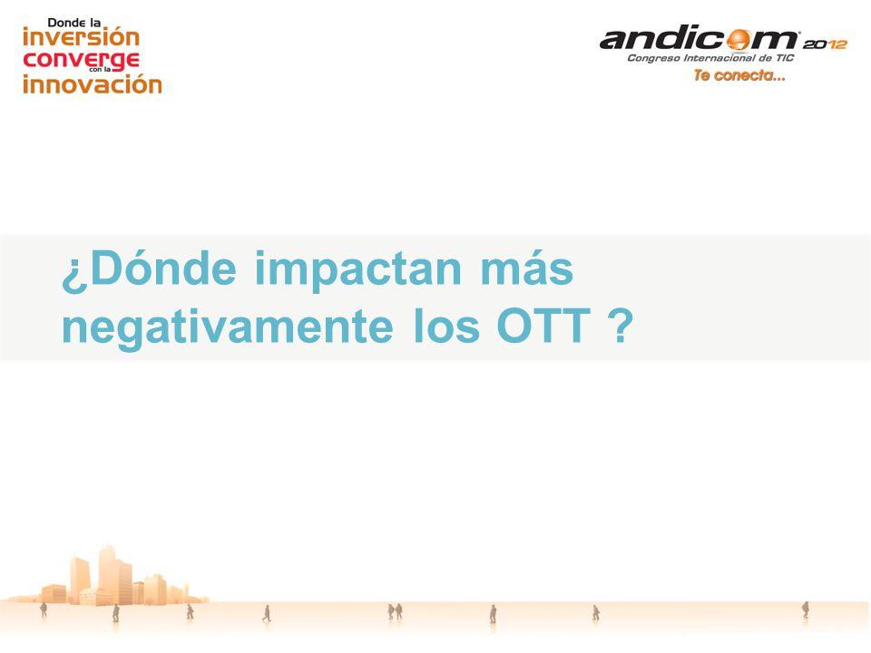 ¿Dónde impactan más negativamente los OTT