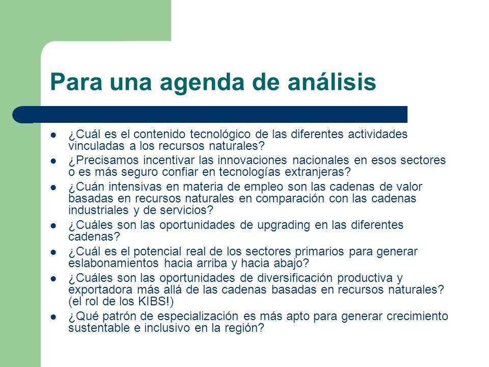 Para una agenda de análisis