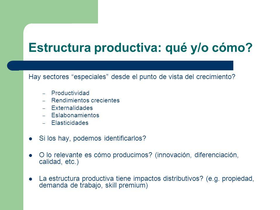 Estructura productiva: qué y/o cómo
