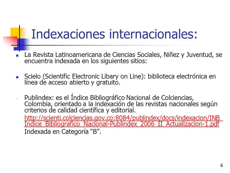 Indexaciones internacionales: