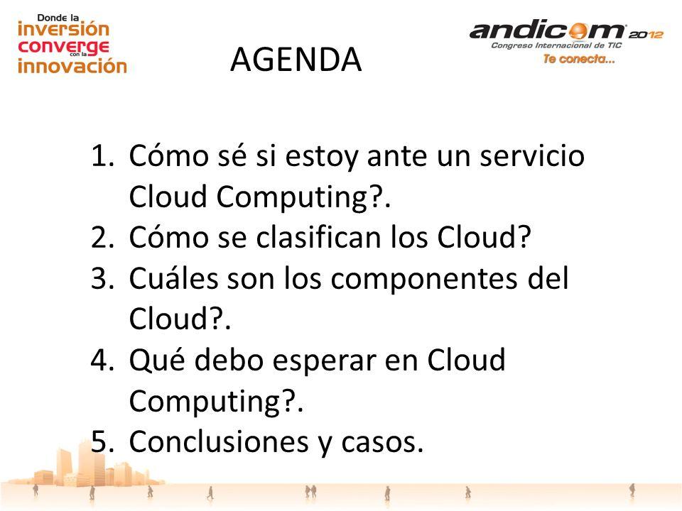 AGENDA Cómo sé si estoy ante un servicio Cloud Computing .