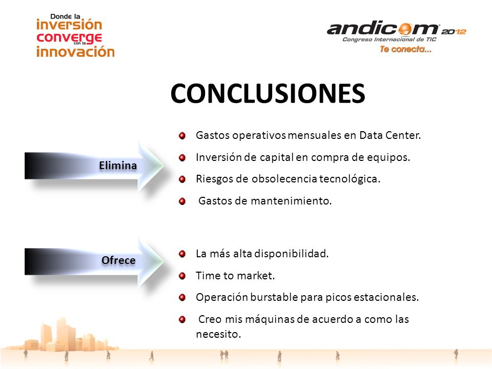 CONCLUSIONES Gastos operativos mensuales en Data Center.