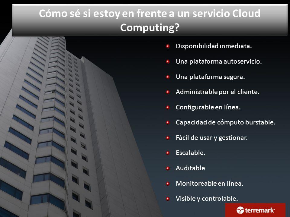 Cómo sé si estoy en frente a un servicio Cloud Computing