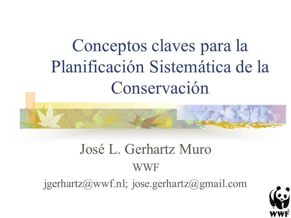 Conceptos claves para la Planificación Sistemática de la Conservación