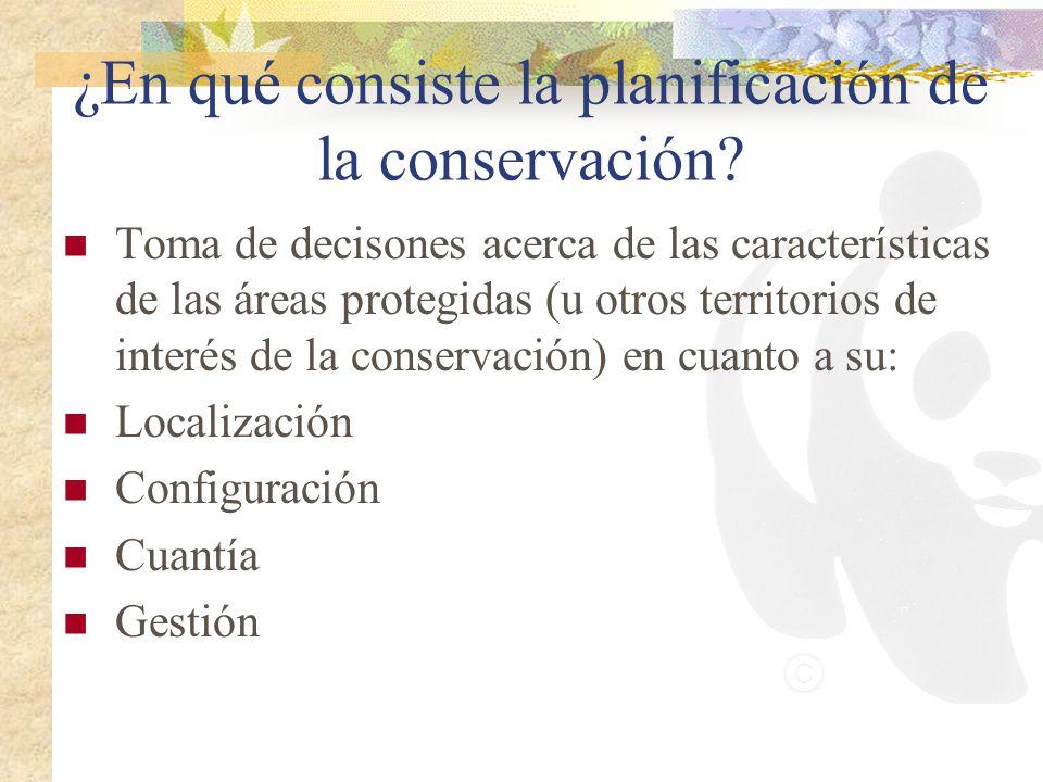 ¿En qué consiste la planificación de la conservación