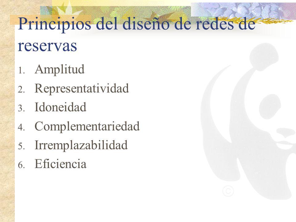 Principios del diseño de redes de reservas