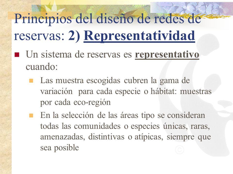 Principios del diseño de redes de reservas: 2) Representatividad