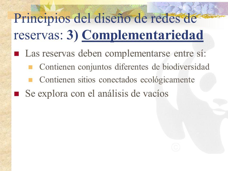 Principios del diseño de redes de reservas: 3) Complementariedad