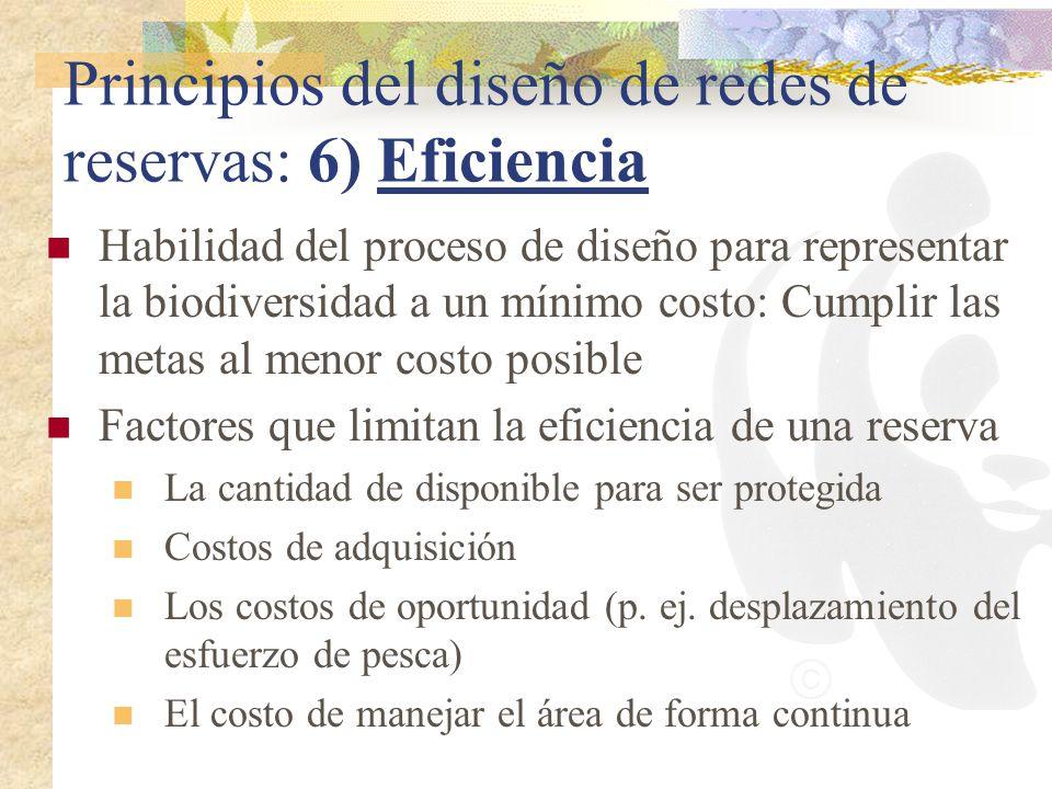 Principios del diseño de redes de reservas: 6) Eficiencia