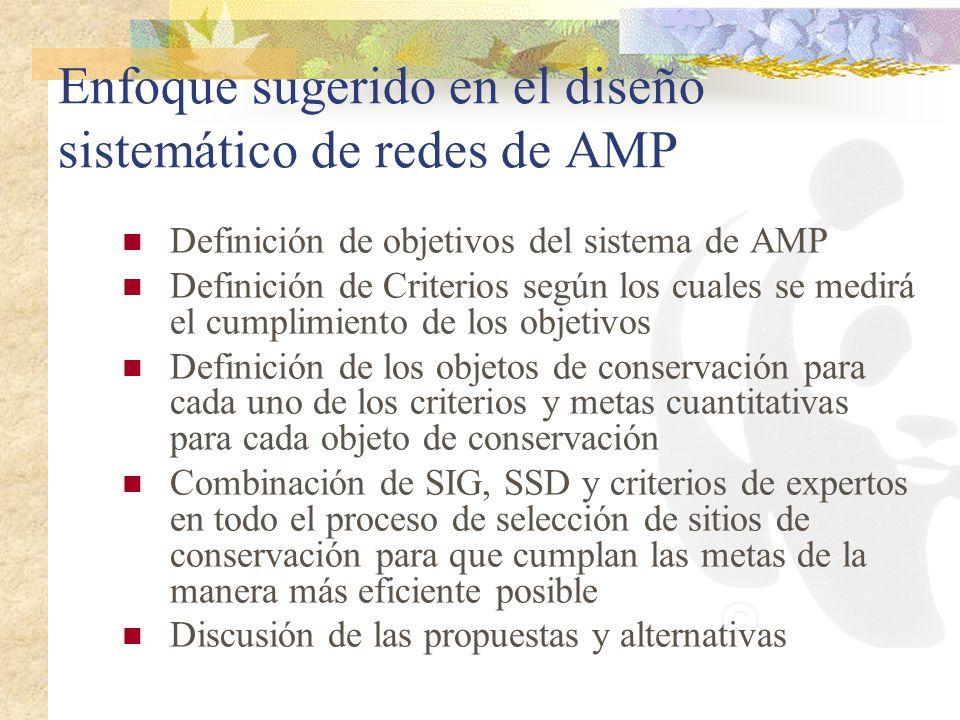 Enfoque sugerido en el diseño sistemático de redes de AMP