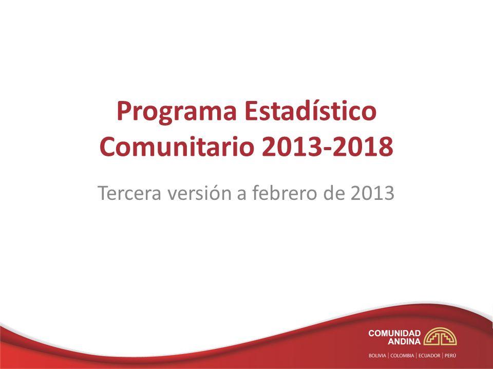Programa Estadístico Comunitario 2013-2018