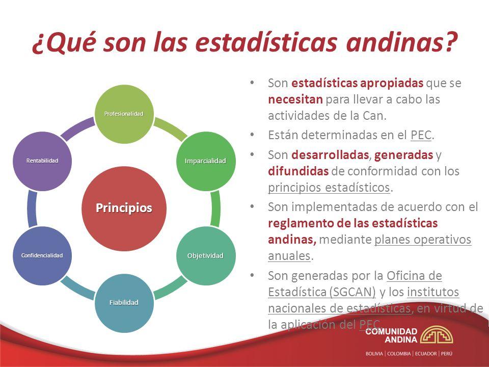 ¿Qué son las estadísticas andinas