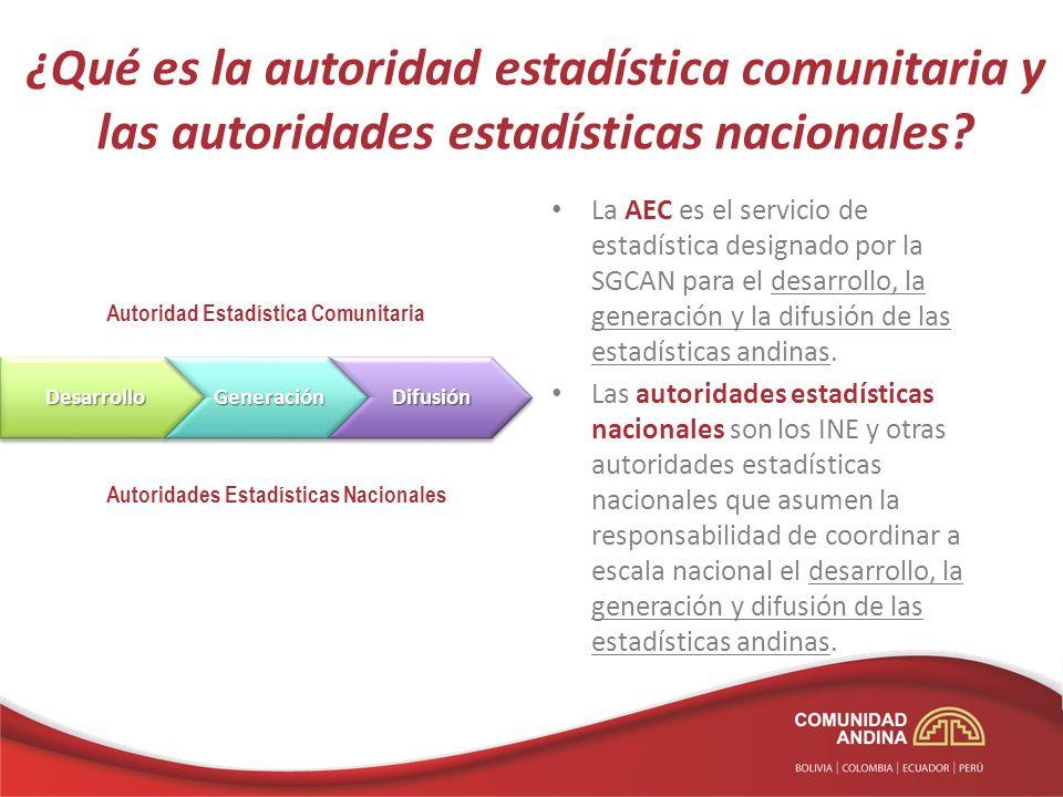 ¿Qué es la autoridad estadística comunitaria y las autoridades estadísticas nacionales
