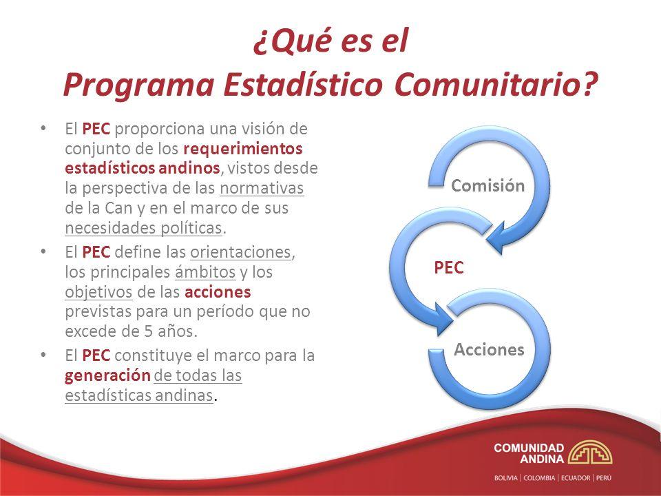 ¿Qué es el Programa Estadístico Comunitario