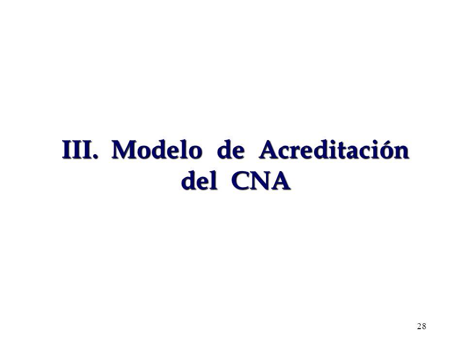 III. Modelo de Acreditación del CNA