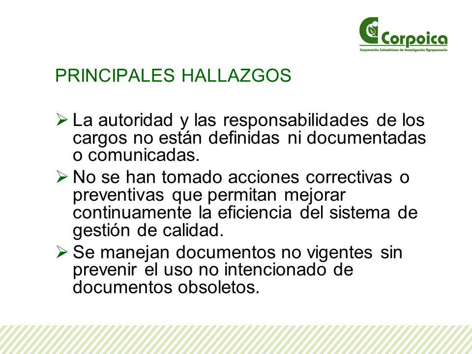 PRINCIPALES HALLAZGOS