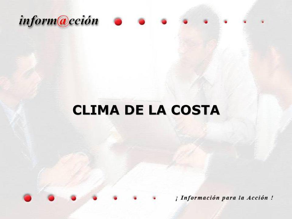 CLIMA DE LA COSTA