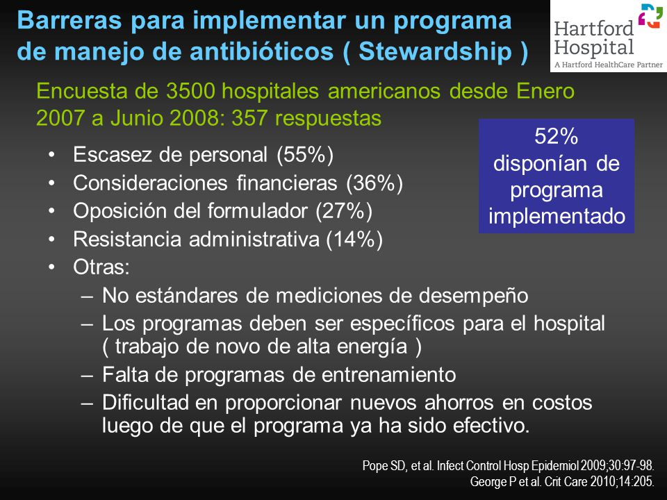 52% disponían de programa implementado